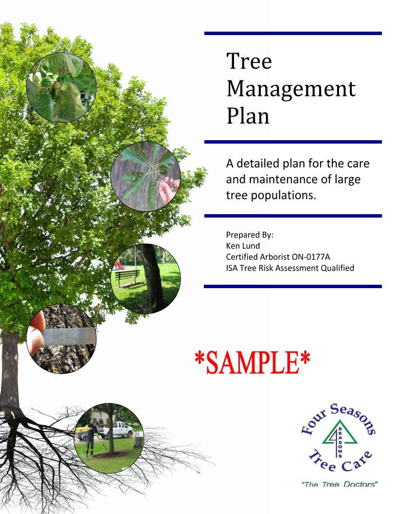 tree management plan sample